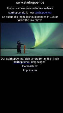 Vorschau der mobilen Webseite www.starhopper.de, Astronomie [Jäger, Thomas]