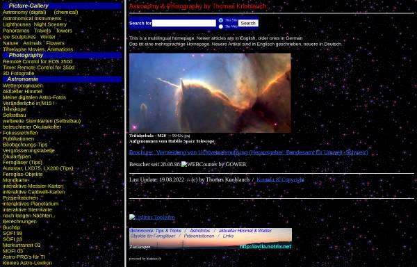 Vorschau von avila.star-shine.ch, Astronomie [Knoblauch, Thomas]