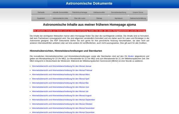 Vorschau von www.ajoma.de, Astronomie [Mayer,Toni]