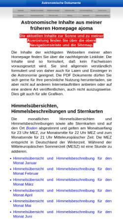 Vorschau der mobilen Webseite www.ajoma.de, Astronomie [Mayer,Toni]