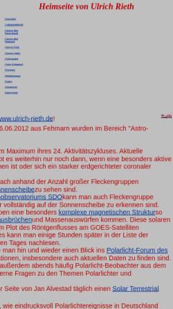 Vorschau der mobilen Webseite www.ulrich-rieth.de, Astronomie [Rieth, Ulrich]