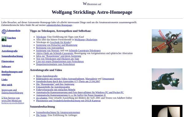Vorschau von www.strickling.net, Astronomie [Strickling, Wolfgang]