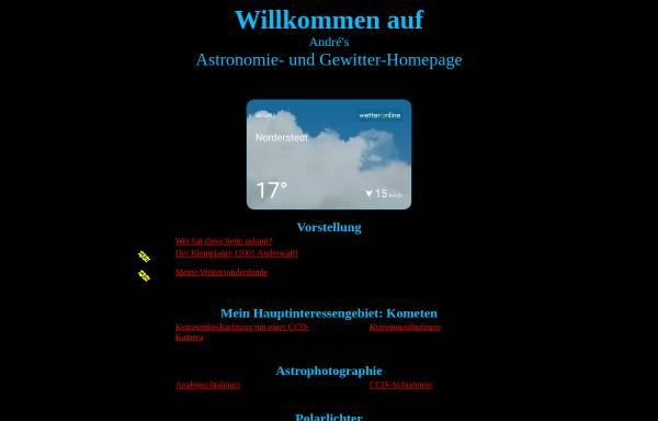 Vorschau von www.andrewulff.de, Astronomie [Wulff, André]