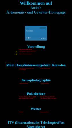 Vorschau der mobilen Webseite www.andrewulff.de, Astronomie [Wulff, André]