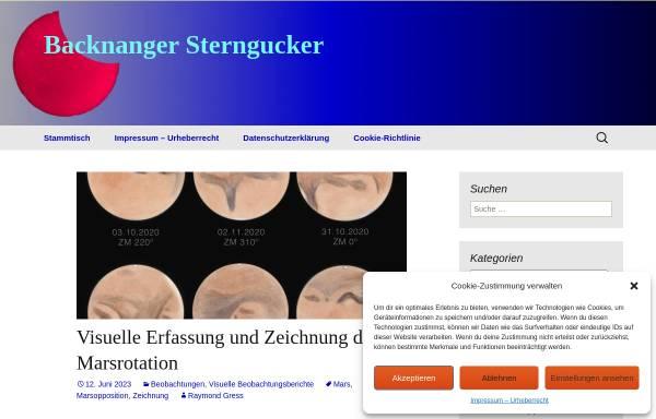 Vorschau von www.bksterngucker.de, Backnanger Sterngucker