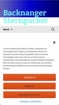 Vorschau der mobilen Webseite www.bksterngucker.de, Backnanger Sterngucker