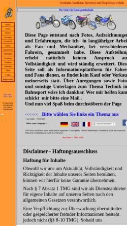 Vorschau der mobilen Webseite bahnsporttechnik.de, Bahnsporttechnik