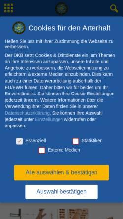 Vorschau der mobilen Webseite www.dkb-online.de, Deutscher Kanarien- und Vogelzüchter-Bund e.V.