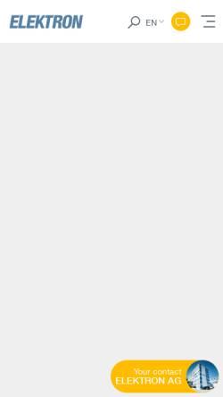 Vorschau der mobilen Webseite www.elektron.ch, Elektron AG