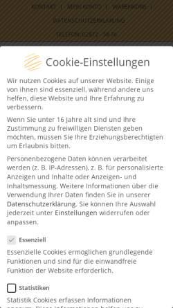 Vorschau der mobilen Webseite www.pralinen-manufactur.de, Pralinenmanufactur, Inh. Josef Große-Bölting