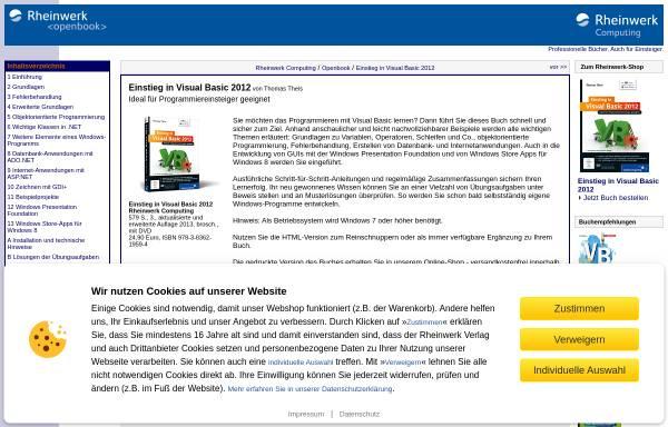 Vorschau von openbook.galileocomputing.de, Einstieg in Visual Basic 2008