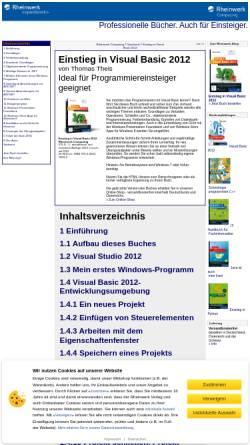 Vorschau der mobilen Webseite openbook.galileocomputing.de, Einstieg in Visual Basic 2008