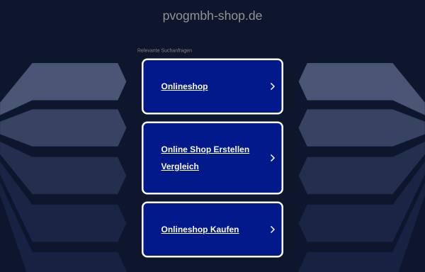 Vorschau von www.pvogmbh-shop.de, PVO Produkte, Vertrieb und Organisation GmbH