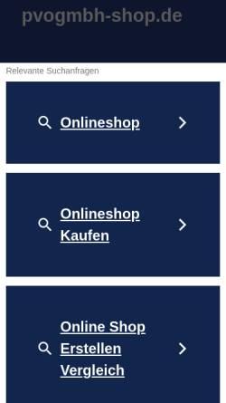 Vorschau der mobilen Webseite www.pvogmbh-shop.de, PVO Produkte, Vertrieb und Organisation GmbH