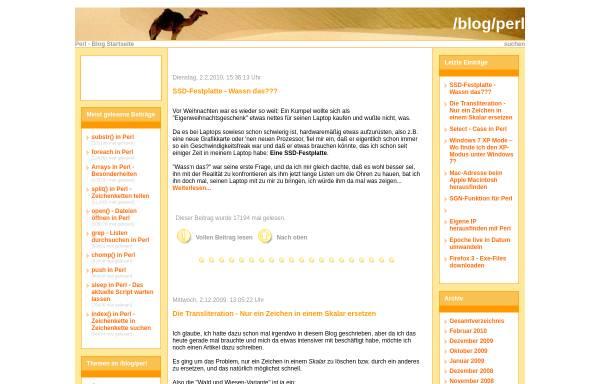 Vorschau von www.hidemail.de, Der Perl-Blog