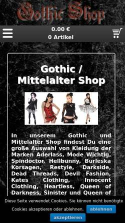 Vorschau der mobilen Webseite www.music-streetwear.de, Music Streetwear