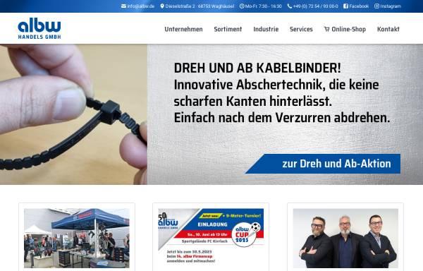 Vorschau von www.albw.de, Albw Handels GmbH