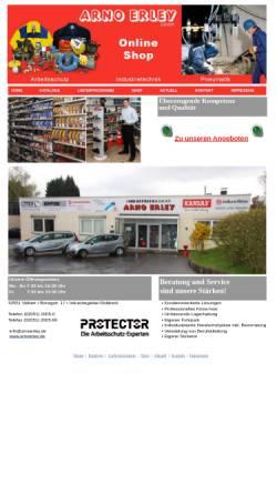Vorschau der mobilen Webseite www.arnoerley.de, Arno Erley GmbH