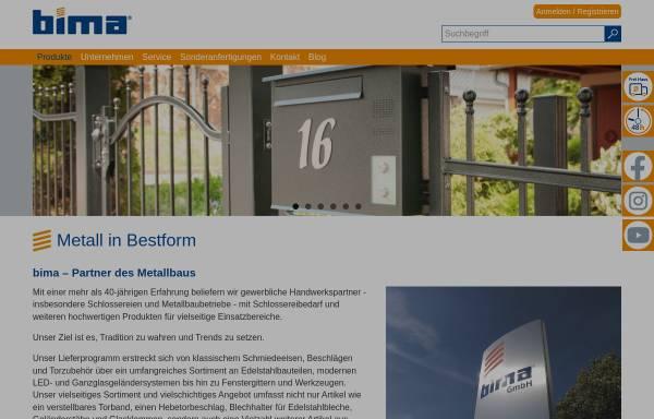 Vorschau von www.bima.de, Bima Industrie-Service GmbH