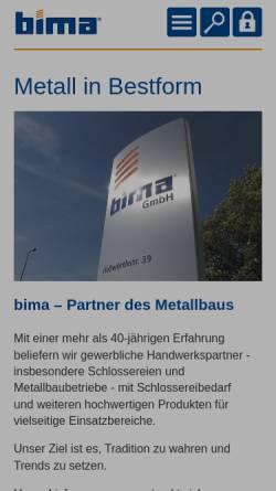 Vorschau der mobilen Webseite www.bima.de, Bima Industrie-Service GmbH