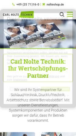 Vorschau der mobilen Webseite www.carlnolte.de, Carl Nolte Technik GmbH