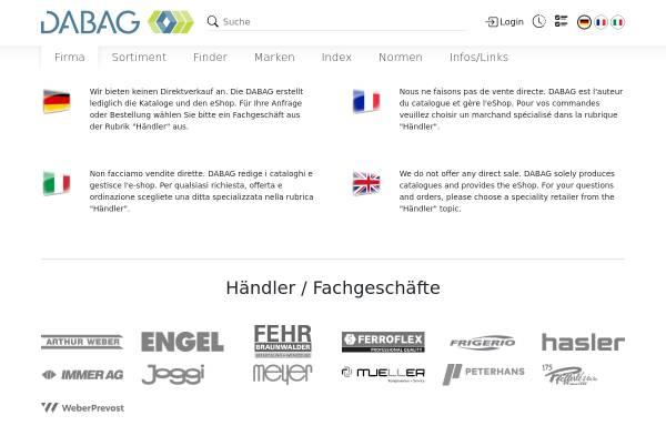 Vorschau von www.dabag.ch, DABAG Datenbank Genossenschaft