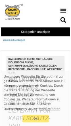 Vorschau der mobilen Webseite www.demes.de, Demes Technik GmbH