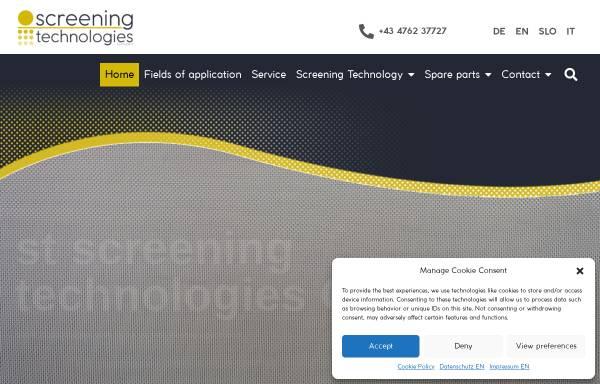 Vorschau von www.siebtechnik.at, Dipl. Ing. Walter Poldlehner - Technischer Industriebedarf