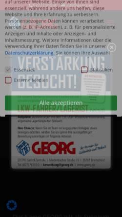 Vorschau der mobilen Webseite www.georg.de, Georg GmbH