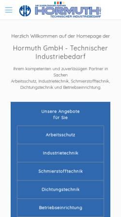 Vorschau der mobilen Webseite www.hormuth.de, Hormuth GmbH
