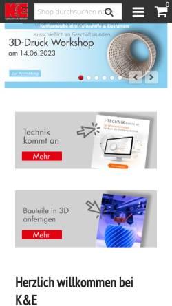 Vorschau der mobilen Webseite www.kahmann-ellerbrock.de, Kahmann & Ellerbrock GmbH & Co.