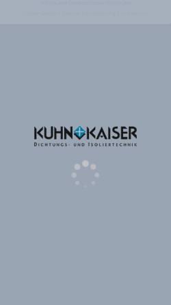 Vorschau der mobilen Webseite www.kuhn-kaiser.de, Kuhn + Kaiser GmbH