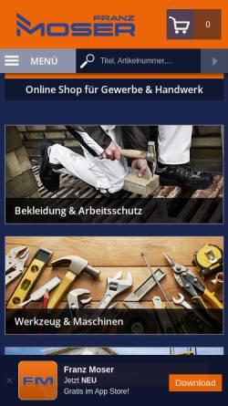 Vorschau der mobilen Webseite www.fmoser.at, Maschinenhandel Moser GmbH