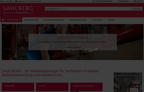 Vorschau von www.sahlberg.de, Sahlberg GmbH & Co. KG