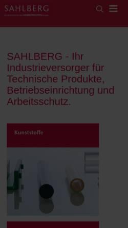 Vorschau der mobilen Webseite www.sahlberg.de, Sahlberg GmbH & Co. KG