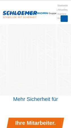 Vorschau der mobilen Webseite www.schloemer24.de, Schloemer GmbH - Technischer Großhandel