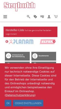 Vorschau der mobilen Webseite www.seyboth.de, Seyboth & Co. Inh. Wilfried Reinhardt e.K.