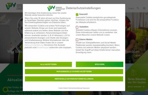 Vorschau von www.vth-verband.de, Verband Technischer Handel e.V. (VTH)