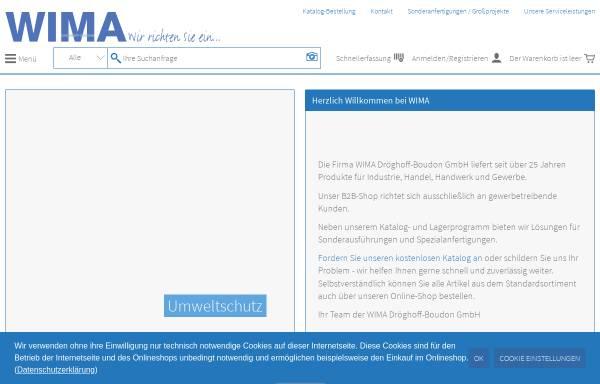 Vorschau von www.wima-shop.de, WIMA Dröghoff-Boudon GmbH