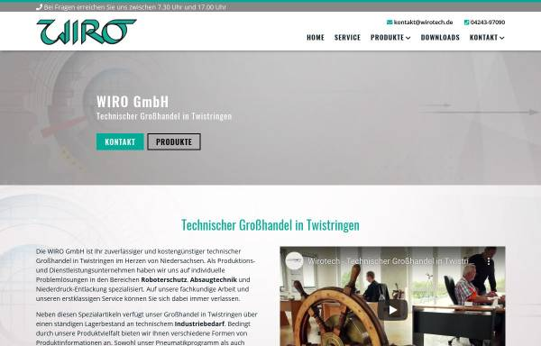 Vorschau von www.wirotech.de, Wiro GmbH - Technischer Grosshandel