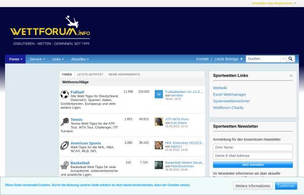 Vorschau von www.wettforum.info, Wettforum.info