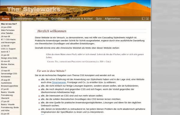 Vorschau von www.thestyleworks.de, The Style Works