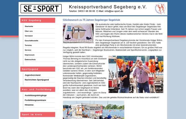 Vorschau von www.se-sport.de, Kreissportverband Segeberg e.V
