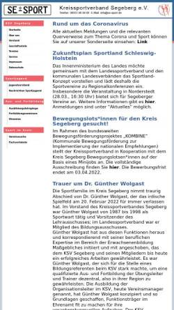 Vorschau der mobilen Webseite www.se-sport.de, Kreissportverband Segeberg e.V