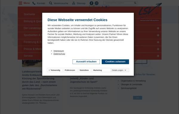 Vorschau von www.lsv-sh.de, Landessportverband Schleswig-Holstein