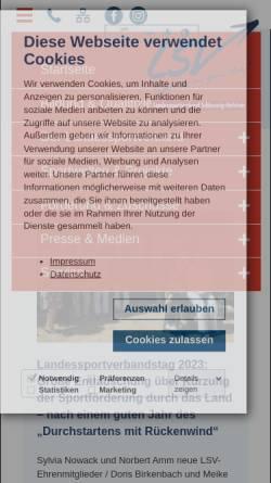 Vorschau der mobilen Webseite www.lsv-sh.de, Landessportverband Schleswig-Holstein