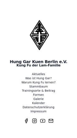 Vorschau der mobilen Webseite www.hung-gar.berlin, Hung Gar Kuen Berlin e.V.