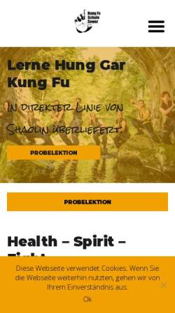 Vorschau der mobilen Webseite shaolin.ch, Kung Fu Schule Martin Sewer