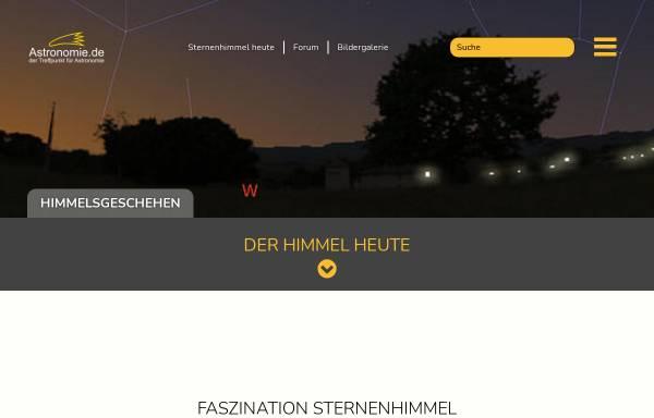 Vorschau von www.astronomie.de, Astronomie.de