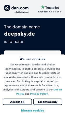 Vorschau der mobilen Webseite deepsky.de, Deepsky: Eine virtuelle Reise ins Universum